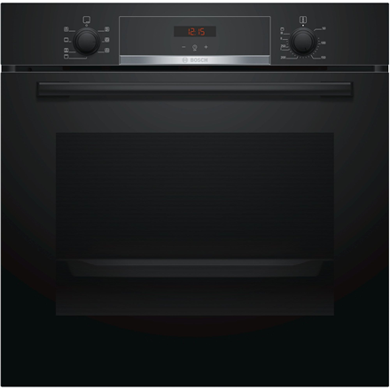 Bosch Oven HBA533BB0S Built-in, 71 L, Black, Eco Clean, A, Push pull buttons, Height 60 cm, Width 60 cm, Integrated timer, Electric
