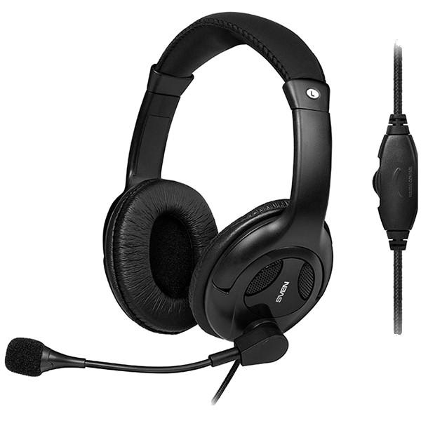 Headphones with microphone SVEN AP-675MV black, SV-014391