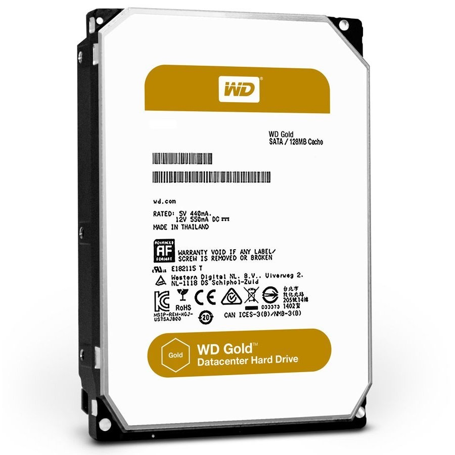 HDD Server WD Gold (3.5'', 1TB, 128MB, 7200 RPM, SATA 6 Gb/s)