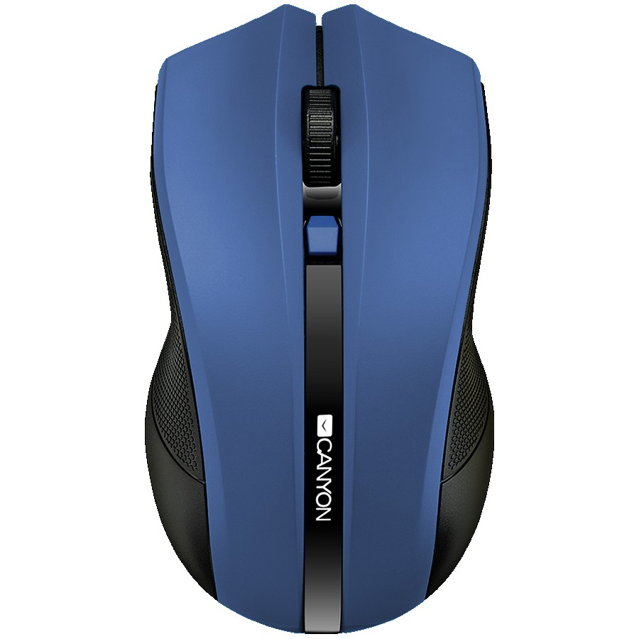 CANYON MW-5 2.4GHz wireless Optical Mouse with 4 buttons, DPI 800/1200/1600, Blue, 122*69*40mm, 0.067kg