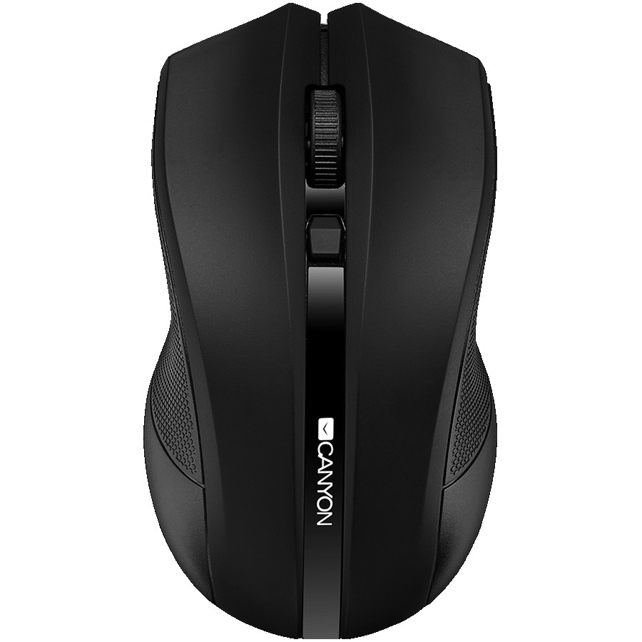 CANYON MW-5 2.4GHz wireless Optical Mouse with 4 buttons, DPI 800/1200/1600, Black, 122*69*40mm, 0.067kg