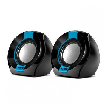 SVEN 150, 2.0 speakers, black-blue, USB, power output 2x2.5W (RMS), SV-013509
