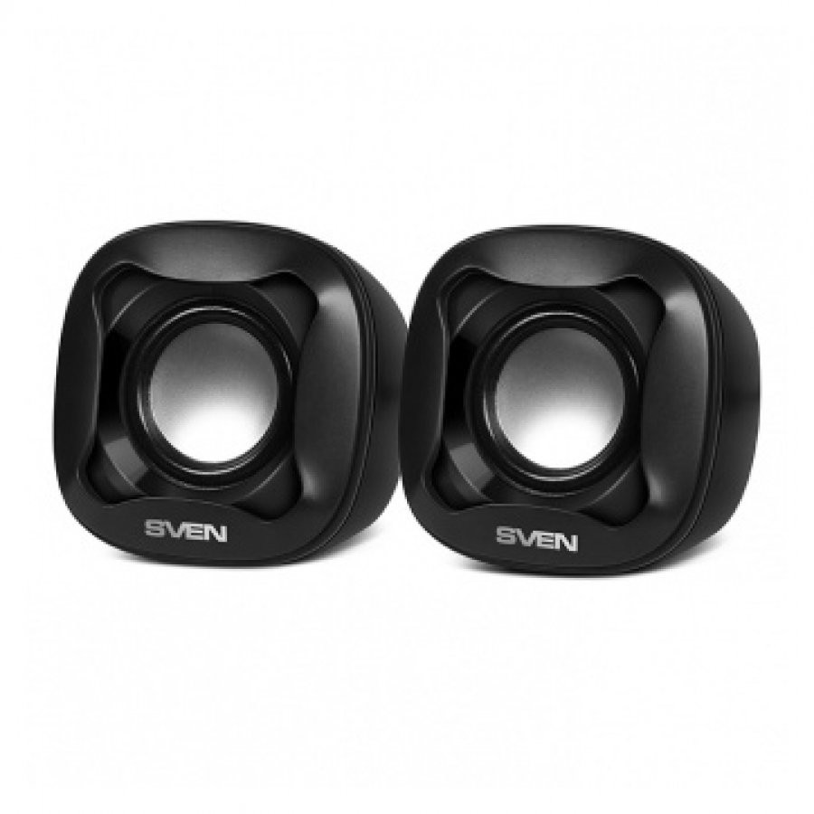 SVEN 170, 2.0 speakers,  black, USB, power output 2x2.5W (RMS), SV-013516