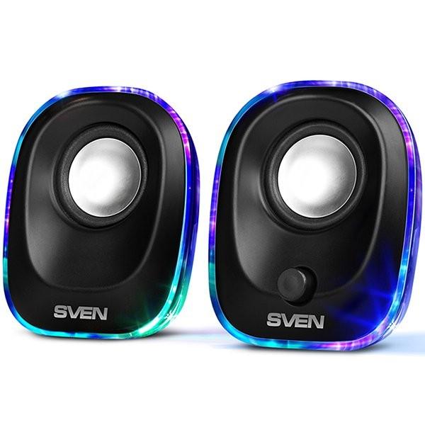 Speakers SVEN 330, 2.0, black (USB), 5W RMS, SV-014001