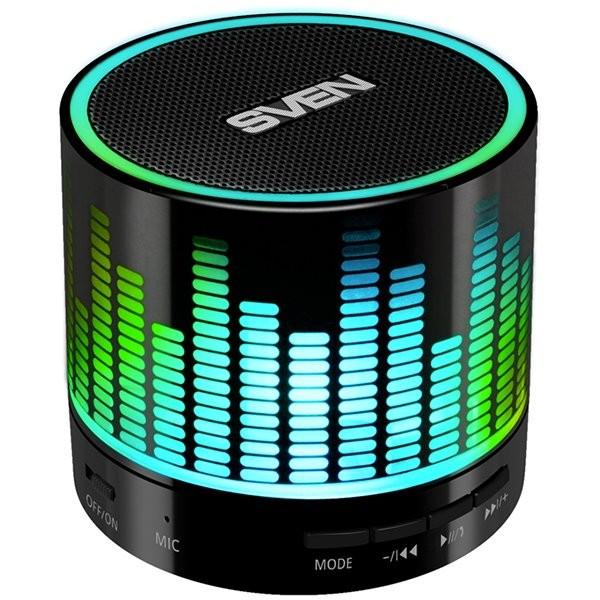 Speaker SVEN PS-47, black (3W, Bluetooth, USB, microSD, FM, 300mA*h), SV-015794