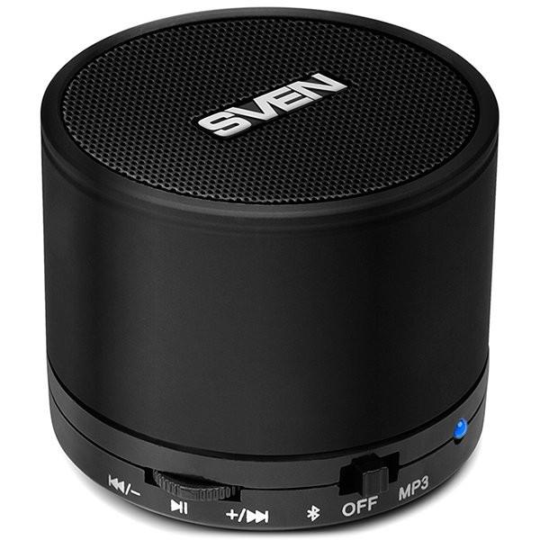 Bluetooth speaker SVEN PS-45BL, black (3W, Bluetooth, microSD, FM), SV-014605