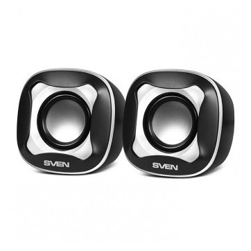SVEN 170, 2.0 speakers black-white, USB, power output 2x2.5W (RMS), SV-013523