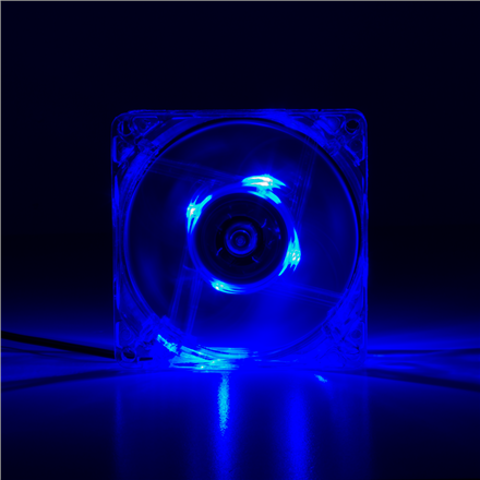 Logilink acrylic with 4x blue LED FAN102 Case fan