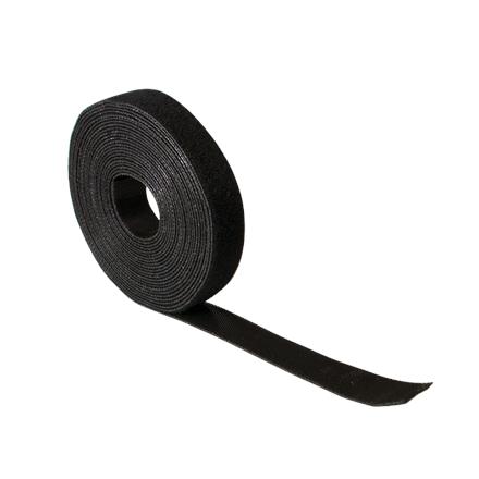 Logilink KAB0055 Cable Strap, Velcro Tape, 10m, Black