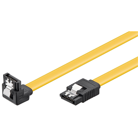 SATA cable Goobay PC data cable; 6 Gbps; 90° clip 95020