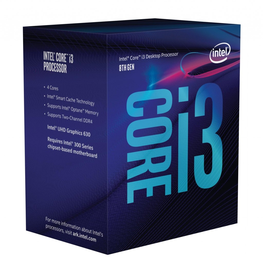 Intel i3-8300, 3.7 GHz, LGA1151, Processor threads 4, Packing Retail, Cooler included, Processor cores 4, Component for PC