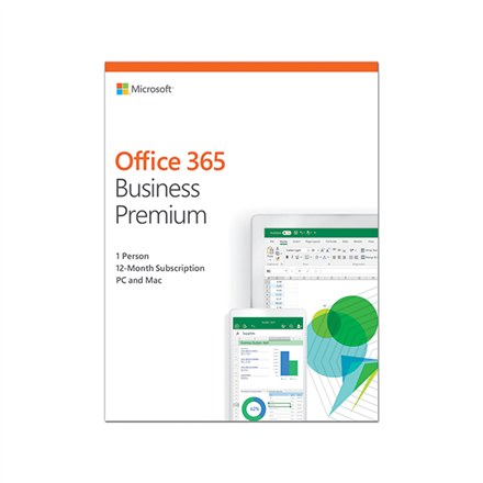 Microsoft KLQ-00382 Office 365 Business Premium Retail, 1 year, Full packaged product (FPP), Latvian, Medialess box