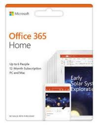 SW RET OFFICE 365 HOME/ENG 1Y 6GQ-01076 MS