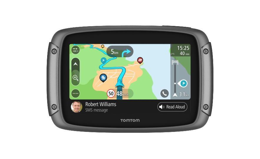 "TomTom Rider 550 Premium Pack navigaator 10,9 cm (4.3"") Puutetundlik ekraan Fikseeritud Must 280 g"