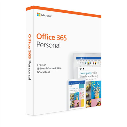 Microsoft Office 365 Personal QQQ2-00790 1 person, License term 1 year(s), English, Medialess P4
