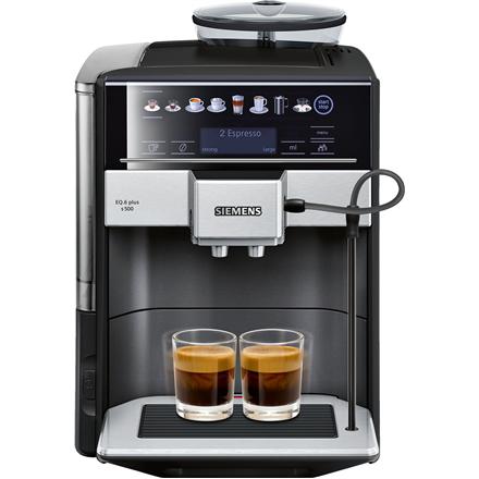SIEMENS Coffee Machine TE655319RW Pump pressure 15 bar, Built-in milk frother, Fully automatic, 1500 W, Black