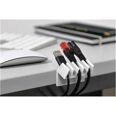 Goobay 5-slot cable management 70431 White