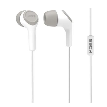 Koss Headphones KEB15iW In-ear, 3.5mm (1/8 inch), Microphone, White,