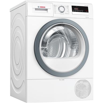 Bosch Dryer mashine WTR85VS8SN Condensed, Sensitive dry, 8 kg, Energy efficiency class A++, Self-cleaning, White, LED, Depth 60 cm,