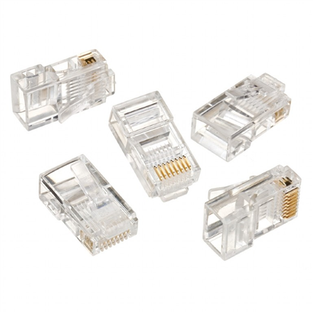 Cablexpert Modular plug 8P8C for solid LAN cable CAT5, UTP, 10 pcs. per bag