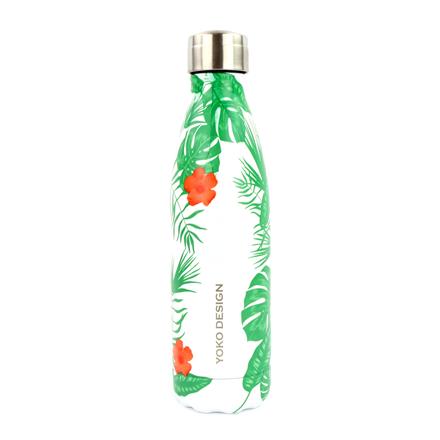 Yoko Design Isothermal Bottle Tropical Green, Capacity 0.5 L, Diameter 6.5 cm, Bisphenol A (BPA) free