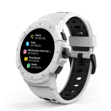 MyKronoz Zesport 2 460 mAh, Smartwatch, Touchscreen, Bluetooth, Heart rate monitor, White, GPS (satellite),