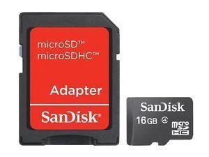 MEMORY MICRO SDHC 16GB W/ADAPT/CL4 SDSDQM-016G-B35A SANDISK