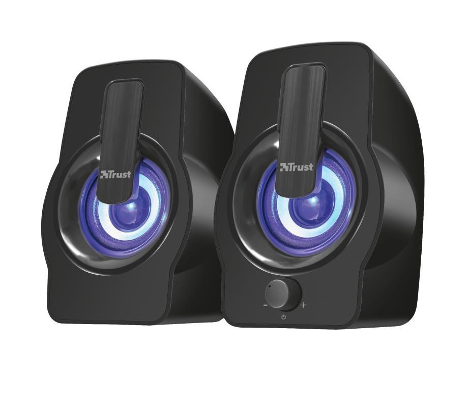 Speaker TRUST Gemi RGB P.M.P.O. 12 Watts 1xAudio-In Black 22948