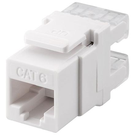 Goobay 95740 Keystone module RJ45 CAT 6, UTP, 250 MHz, white