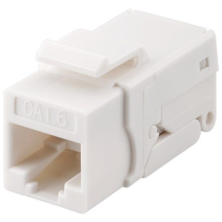 Goobay 95742 Keystone module RJ45 CAT 6, UTP, 250 MHz, white