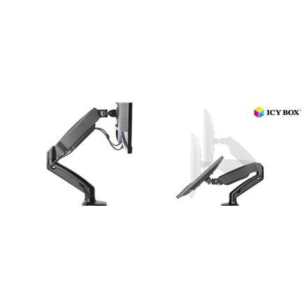 4368090327c ICY BOX IB-MS303-T Monitor stand with desk mounted base for a screen size  up to 27