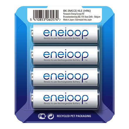 Panasonic Eneloop AA/HR6, 1900 mAh, Rechargeable Ni-MH, 4 pc(s)