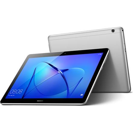 "Huawei MediaPad T3 9.6 "", Grey, IPS LCD, 800 x 1280 pixels, Qualcomm MSM8917, 2 GB, 16 GB, 4G, 3G, Front camera, 2 MP, Rear camera, 5 MP, Bluetooth, Android, 7.0"