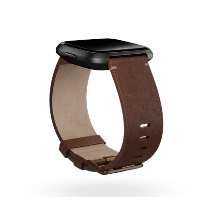 Fitbit Versa Accessory Leather Band Cognac - Large