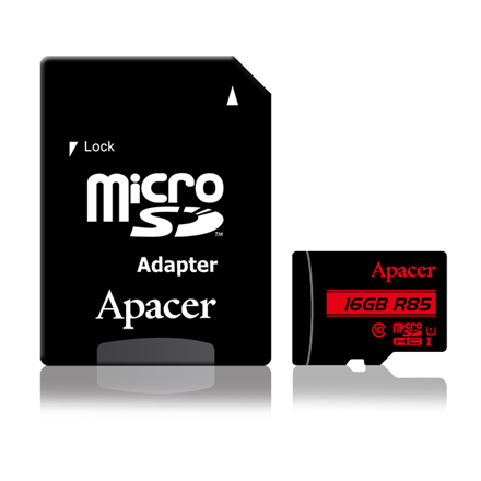 Apacer R85 Flash memory class 10, Micro SD adapter