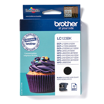 Print4you Analog  Brother LC123BK  Ink Cartridge, Black