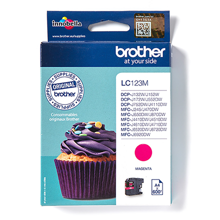 Print4you Analog  Brother LC123M  Ink Cartridge, Magenta