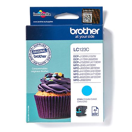 Print4you Analog  Brother LC123C Ink Cartridge, Cyan