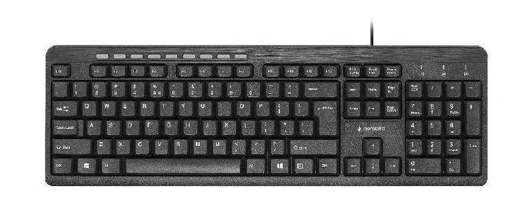KEYBOARD MULTIMEDIA USB ENG/KB-UM-106 GEMBIRD
