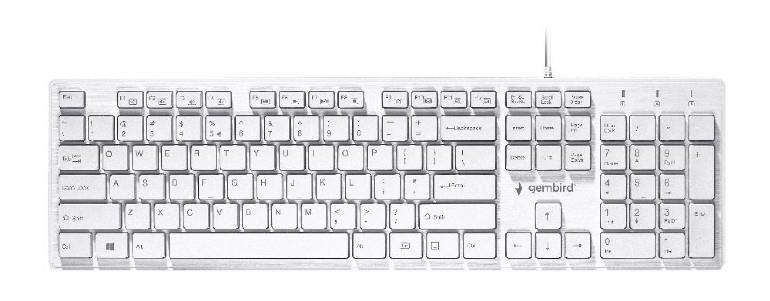 KEYBOARD MULTIMEDIA USB ENG/CHOCOLATE KB-MCH-03-W GEMBIRD