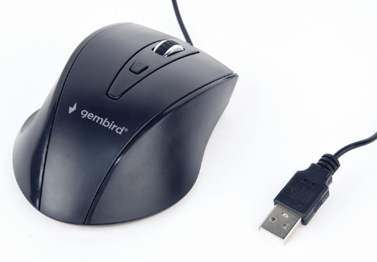 MOUSE USB OPTICAL/BLACK MUS-4B-02 GEMBIRD