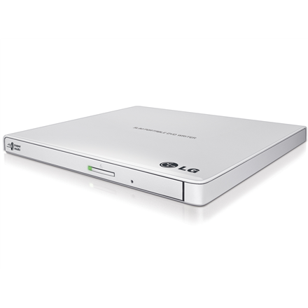 H.L Data Storage Ultra Slim Portable DVD-Writer GP57EW40 Interface USB 2.0, DVD±R/RW, CD read speed 24 x, CD write speed 24 x, White, Desktop/Notebook