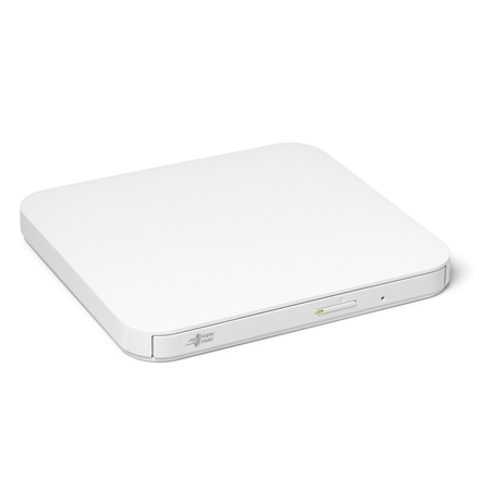H.L Data Storage Ultra Slim Portable DVD-Writer GP90NW70 Interface USB 2.0, DVD±R/RW, CD read speed 24 x, CD write speed 24 x, White, Desktop/Notebook