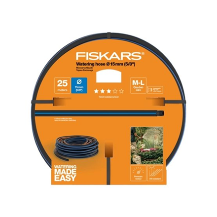 "Fiskars Watering hose 15 mm (5/8""), 25 m Q3"