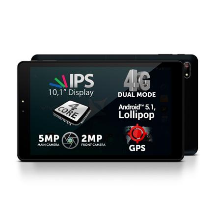 "Allview Viva H1001 10.1 "", Black, IPS LCD, 1280 x 800 pixels, Cortex-A53 Quad-Core, 1 GB, 8 GB, 4G, Wi-Fi, Front camera, 2 MP, Rear camera, 5 MP, Bluetooth, 4.0, Android, 5.1"