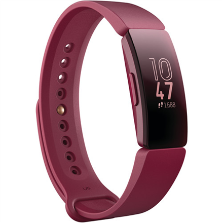Fitbit Inspire Fitness tracker, OLED, Touchscreen, Activity monitoring 24/7, Waterproof, Bluetooth, Sangria