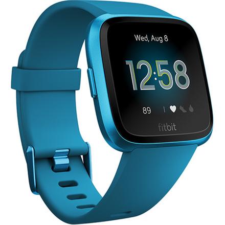 Fitbit Versa Lite Smart watch, LCD, Touchscreen, Heart rate monitor, Activity monitoring 24/7, Waterproof, Bluetooth, Marina Blue