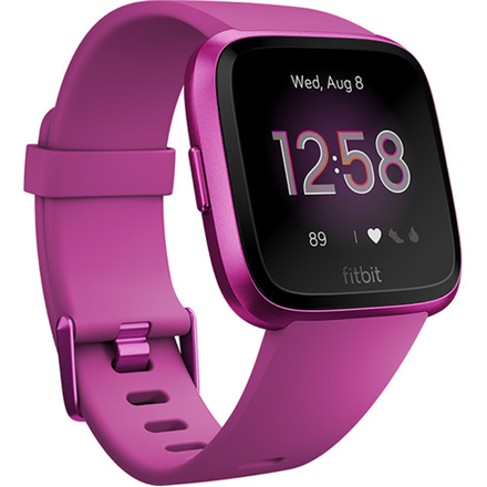 Fitbit Versa Lite Smart watch, LCD, Touchscreen, Heart rate monitor, Activity monitoring 24/7, Waterproof, Bluetooth, Mulberry