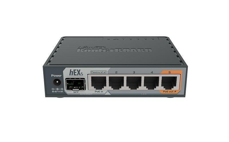 NET ROUTER 10/100/1000M 5PORT/HEX S RB760IGS MIKROTIK