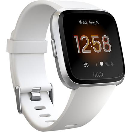 Fitbit Versa Lite Fitness Tracker  Versa Lite Smart watch, OLED, Touchscreen, Heart rate monitor, Activity monitoring 24/7, Waterproof, Bluetooth, White/Silver Aluminum
